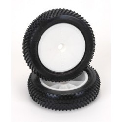Cauciucuri lipite Mini Pin fata slim - Soft (2buc) 1/10 2wd