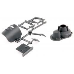 Carcasa motor+protectie pinioane+skid plate