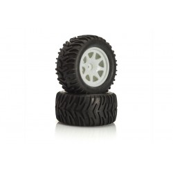 Roti Montate MonsterTruck LRP 1/10 2buc Albe
