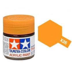 Vopsea Tamiya Acryl Mini X-26 Clear Orange 10ml Machete