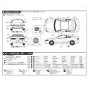 Macheta Auto de Asamblat Honda Integra Type-R `95 FUJIMI