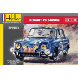 Macheta Renault R8 Gordini Heller kit DIY 1/24