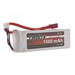 Acumulator LiPo Redox 2S 7.4V 1500mAh 30C Mufa Deans - 1 - 5303