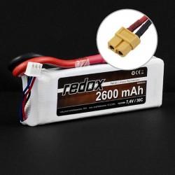 Acumulator LiPo Redox 2S 7.4 2600mAh 30C Mufa XT60 - 1 - 5357