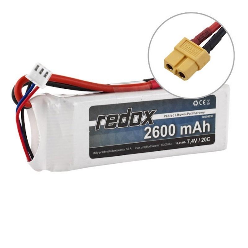 Acumulator LiPo Redox 2S 7.4V 2600mAh 20C Mufa XT60 - 1 - 5418