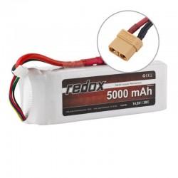 Acumulator LiPo Redox 4S 14.8V 5000mAh 30C Mufa XT90 - 1 - 5437