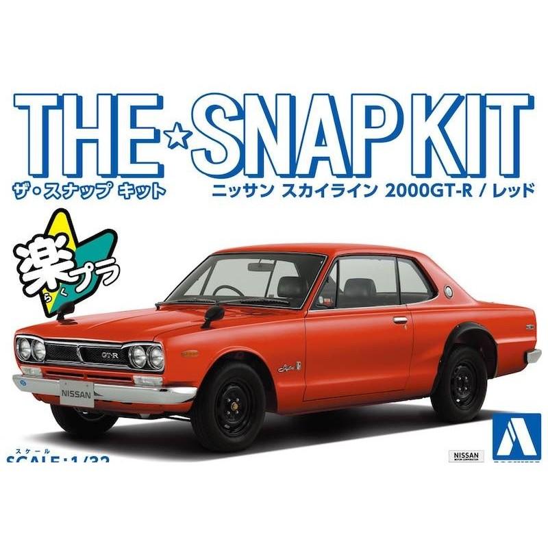 MACHETA Snapkit 1/32 Prevopsita Nissan Skyline 2000GT-R (Red) - 1 - 6024
