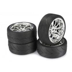 Set roti automodel asfalt LP9 spite Crom 1:10 (4 buc)