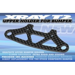 Xray T2/T3 Upper Holder for Bumper - 2.5mm Graphite