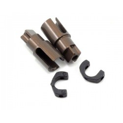 Xray Hard Coated Alum Solid Axle Driveshaft Adapters (2)