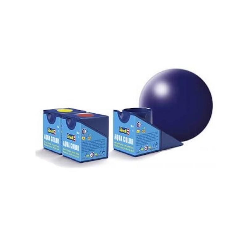 Vopsea Aqua Color Albastru Inchis Mat Revell