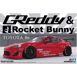Macheta de asamblat TOYOTA 86 '12 GREDDY&ROCKET BUNNY ENKEY RACING