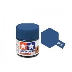 Vopsea Tamiya Acryl Mini XF-8 FLAT BLUE 10ml Machete