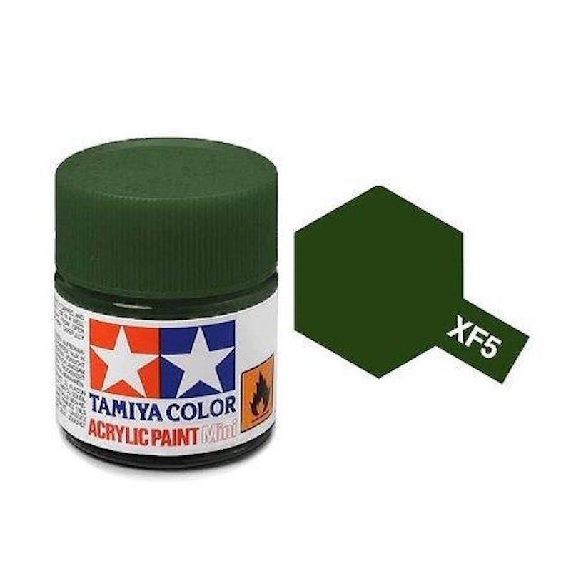 Vopsea Tamiya Acryl Mini XF05 Flat Green 10ml Machete