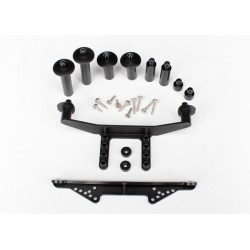 Suporti Caroserie Traxxas Body mount, front & rear (black)